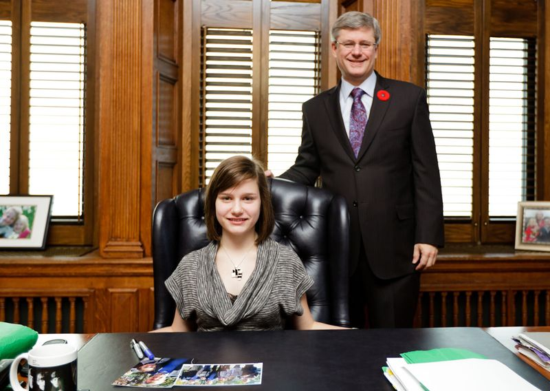 At the Prime Minister's desk on Parliament Hill_lowRes
